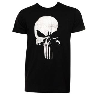 Punisher Men's Black Cotton 3D Logo T-shirt