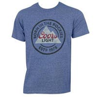 Coors Light Blue Cotton/Polyester 'Born In The Rockies' T-shirt