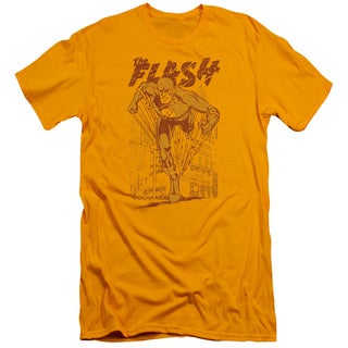 DC/Busting Out Short Sleeve Adult T-Shirt 30/1 in Gold