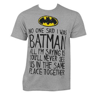 Batman No One Said Tee Shirt