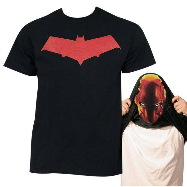 Batman Under the Red Hood Mens Cotton Flip Up T-shirt
