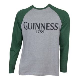 Men's Guinness Baseball Grey/Green Cotton/Polyester T-shirt