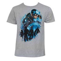 Captain America Men's Civil War Cap Sector Grey T-shirt