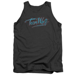 Teen Wolf/Neon Logo Adult Tank in Charcoal