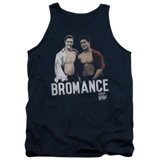 Saved By The Bell/Bromance Adult Tank in Navy