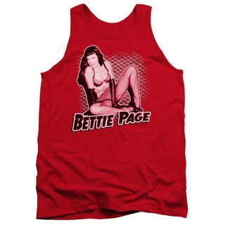 Bettie Page/Pin Up Queen Adult Tank in Red