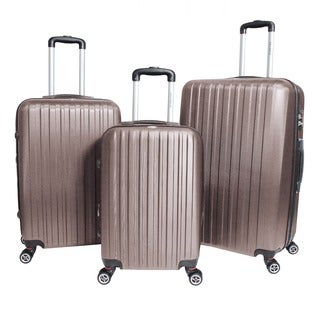 World Traveler Barcelona 3-piece Expandable Hardside Lightweight Spinner Luggage Set