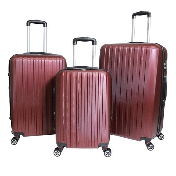 World Traveler Barcelona 3-piece Expandable Hardside Lightweight ...