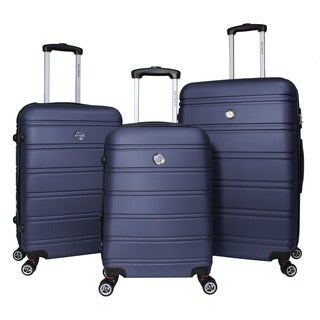World Traveler Montreal 3-piece Expandable Hardside Lightweight Spinner Luggage Set