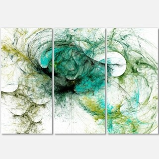 Fractal Digital Paint Pattern - Abstract Digital Art Glossy Metal Wall Art