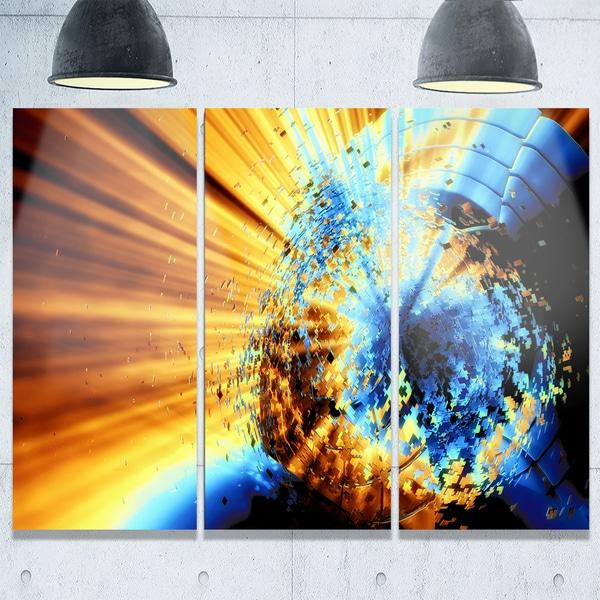 Outstanding Blue Brown Wall Art Crest - Wall Art Design ...