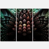 Fractal 3D Flower Fantasy - Abstract Art Glossy Metal Wall Art