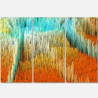 Macro Render Structure Yellow Orange - Art Glossy Metal Wall Art