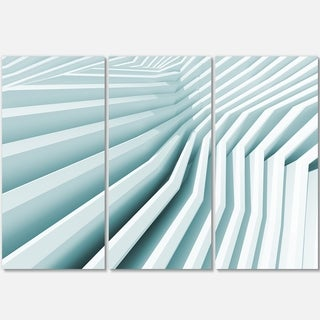 Fractal Architecture 3D Waves - Abstract Art Glossy Metal Wall Art