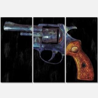 Retro Revolver - Vintage Revolver Painting Glossy Metal Wall Art