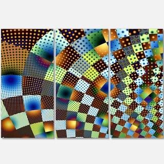 Fractal Geometric Ornament Design - Abstract Art Glossy Metal Wall Art