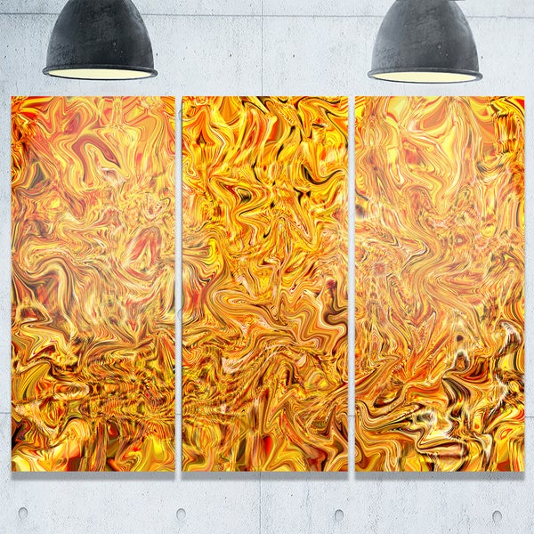Textured Flowing Yellow - Abstract Art Glossy Metal Wall Art - Free ...