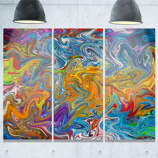 Fractal Flowing Colors - Abstract Art Glossy Metal Wall Art