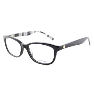 Kate Spade Women's KS Brylie QG9 Black Striped White Plastic 52mm Rectangle Eyeglasses