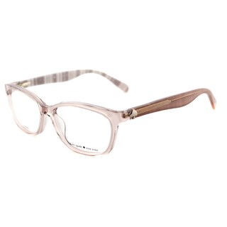 Kate Spade Brylie Beige/White Plastic 52-millimeter Rectangle Eyeglasses
