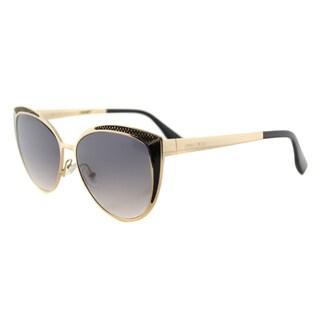 Jimmy Choo JC Domi PSU Rose Gold Metal Cat-Eye Sunglasses Grey Gradient Lens