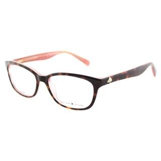 Kate Spade Women's KS Brylie QTQ Havana Pink Plastic 52-millimeter Rectangle Eyeglasses