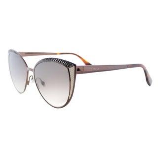 Jimmy Choo JC Domi PTC Brown Metal Cat-Eye Brown Gradient Lens Sunglasses