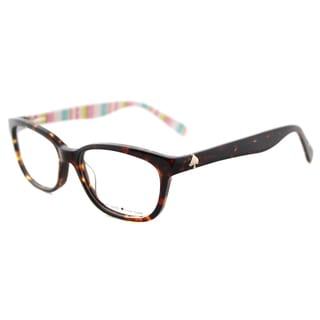 Kate Spade Women's KS Brylie RNL Havana Multicolored Plastic 52mm Rectangle Eyeglasses