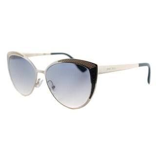 Jimmy Choo JC Domi PTF Light Gold Metal Grey Gradient Lens Cat-Eye Sunglasses