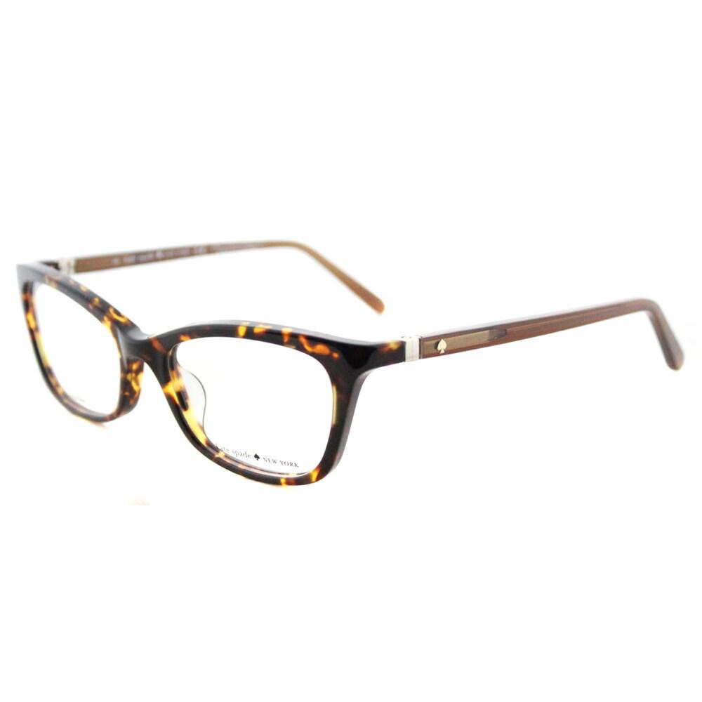 Kate Spade Delacy Havana Brown Plastic Cat-eye Eyeglasses...