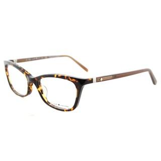 Kate Spade Delacy Havana Brown Plastic Cat-eye Eyeglasses