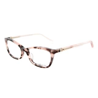 Kate Spade Women's KS Delacy RS3 Havana Rose Plastic 52mm Cat-Eye Eyeglasses