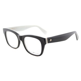 Kate Spade KS Jonnie QDP Black/White Plastic Square Eyeglasses