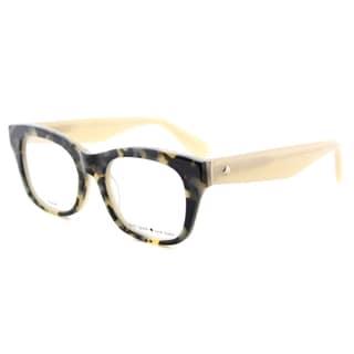 Kate Spade KS Jonnie QSM Havana Beige Plastic Square Eyeglasses