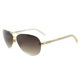Kate Spade KS Beryl AU2 Rose Gold Metal Brown Gradient Lens Aviator Sunglasses