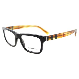Burberry BE 2226 3604 Black Plastic 53-millimeter Square Eyeglasses