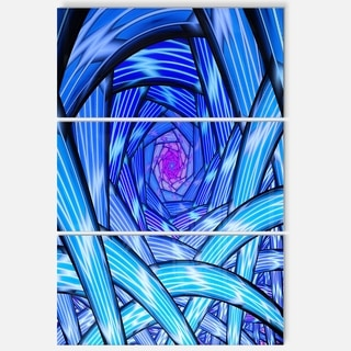 Mysterious Psychedelic Fractal Pattern - Abstract Glossy Metal Wall Art