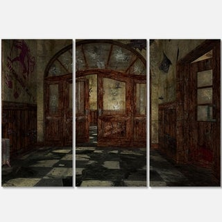 Abandoned Interior - Landscape Painting Glossy Metal Wall Art - 36Wx28H