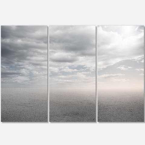 Desert Land and Sky - Landscape Art Glossy Metal Wall Art - 36Wx28H - 36 in. wide x 28 in. high - 3 panels