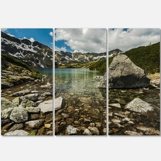 Pond in Five Lakes Valley - Landscape Glossy Metal Wall Art - 36Wx28H