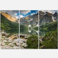 Sunset Over High Mountains - Landscape Glossy Metal Wall Art - 36Wx28H