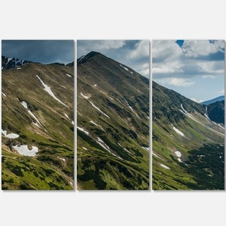 Tatra Mountains Panoramic View - Landscape Glossy Metal Wall Art - 36Wx28H