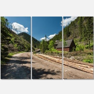Road in Chocholowska Valley - Landscape Glossy Metal Wall Art - 36Wx28H
