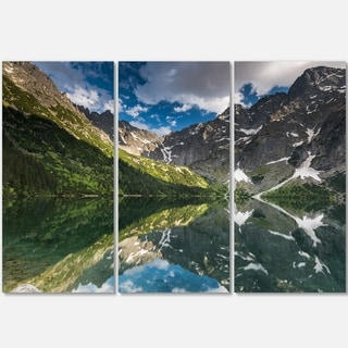 Reflection of Mountain Peaks - Landscape Glossy Metal Wall Art - 36Wx28H