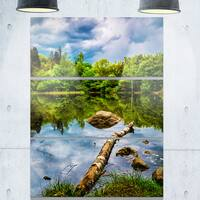 Boyana Lake in Sofia Bulgaria - Landscape Glossy Metal Wall Art - 36Wx28H