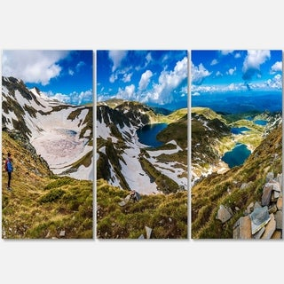 Clouds Over Seven Rila Lakes - Landscape Glossy Metal Wall Art - 36Wx28H