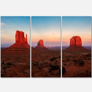 Sunset in Monument Valley - Landscape Glossy Metal Wall Art - 36Wx28H
