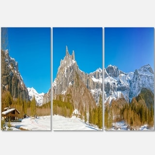Sixt Fer a Cheval Panoramic View - Landscape Glossy Metal Wall Art - 36Wx28H