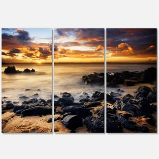Beautiful Sunset at Philip Island - Extra Large Glossy Metal Wall Art - 36Wx28H Landscape