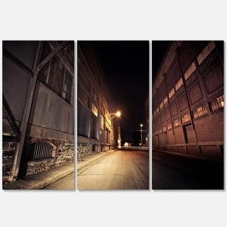 Old Road and Buildings - Extra Large Glossy Metal Wall Art - 36Wx28H Landscape